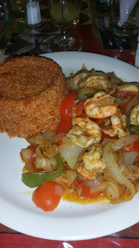 Yassa shrimp w djollof rice yelp for African cuisine chicago