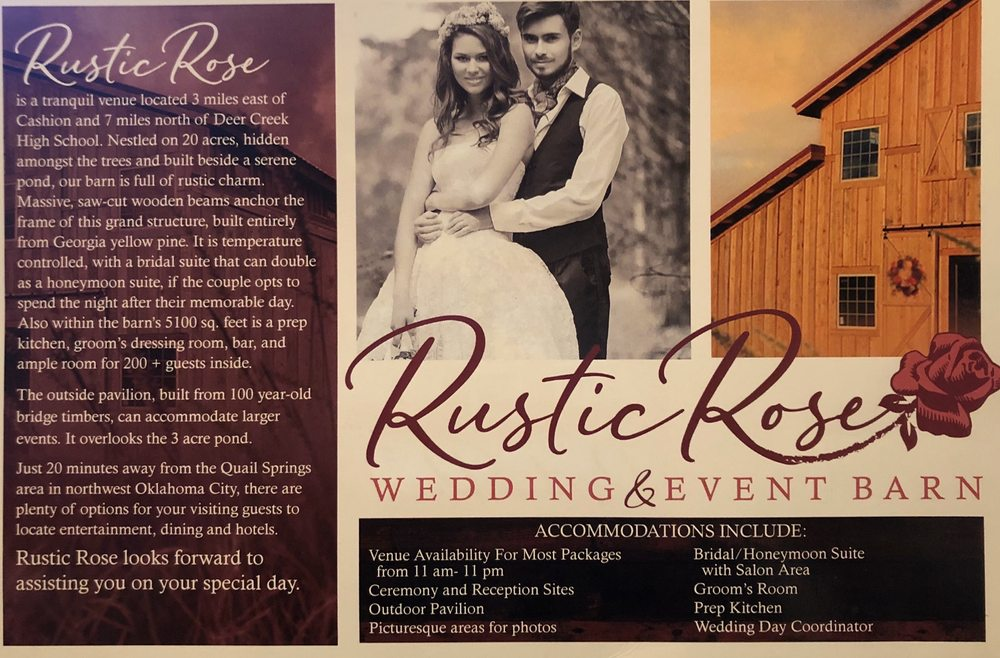 Rustic Rose Barn: 8540 S MacArthur Blvd, Guthrie, OK