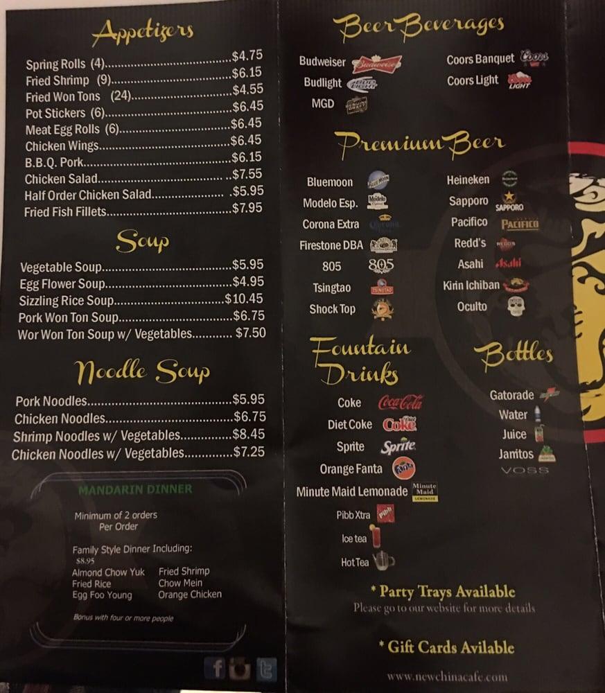 New China Cafe Fresno Ca Menu