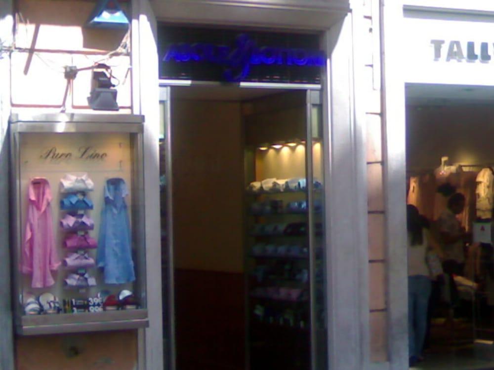 Asole e bottoni abbigliamento maschile via del corso for Corso di arredatore d interni roma