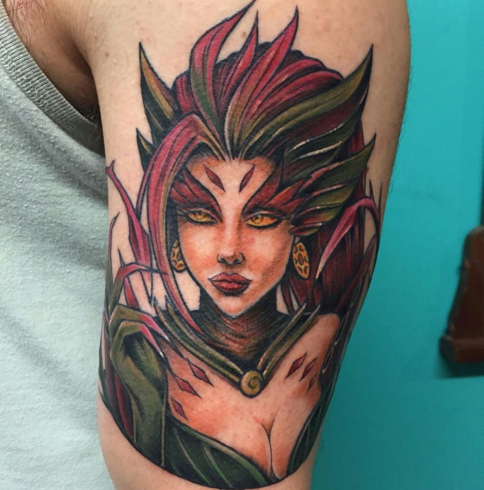 Zyra League Of Legends Tattoo Done By Bryan Craig At High