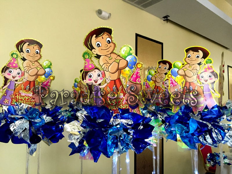 Chota Bheem Centerpieces Had A Great Time Designing Decorating