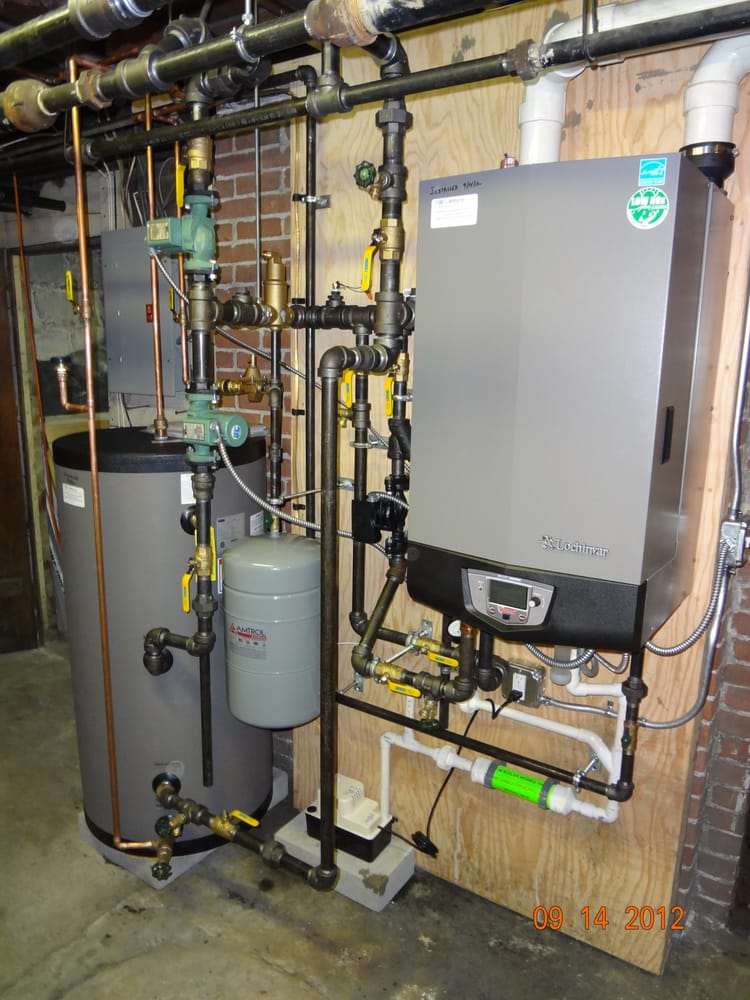 Oil to gas conversion. Hi-efficiency wall hung gas boiler made by ...