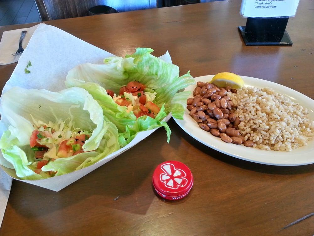 Ahi poke lettuce wrap yelp for Spikes fish house