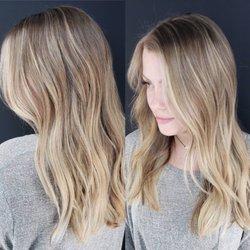 Balayage blond sur marron