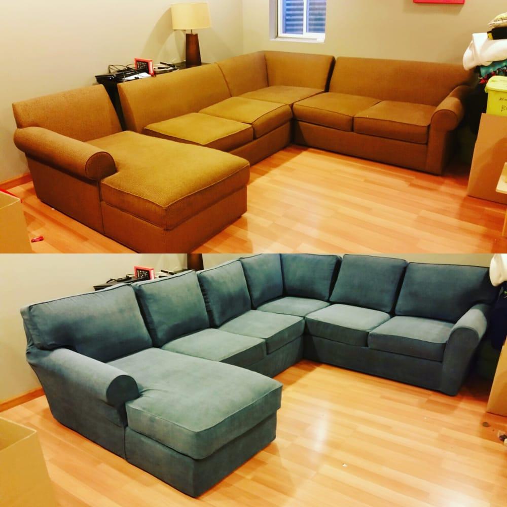 The Blue Sofa Is A Custom Slipcover Crazy I Know