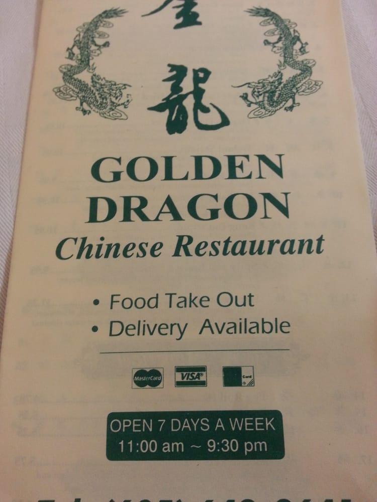 Food from Golden Dragon Restaurant