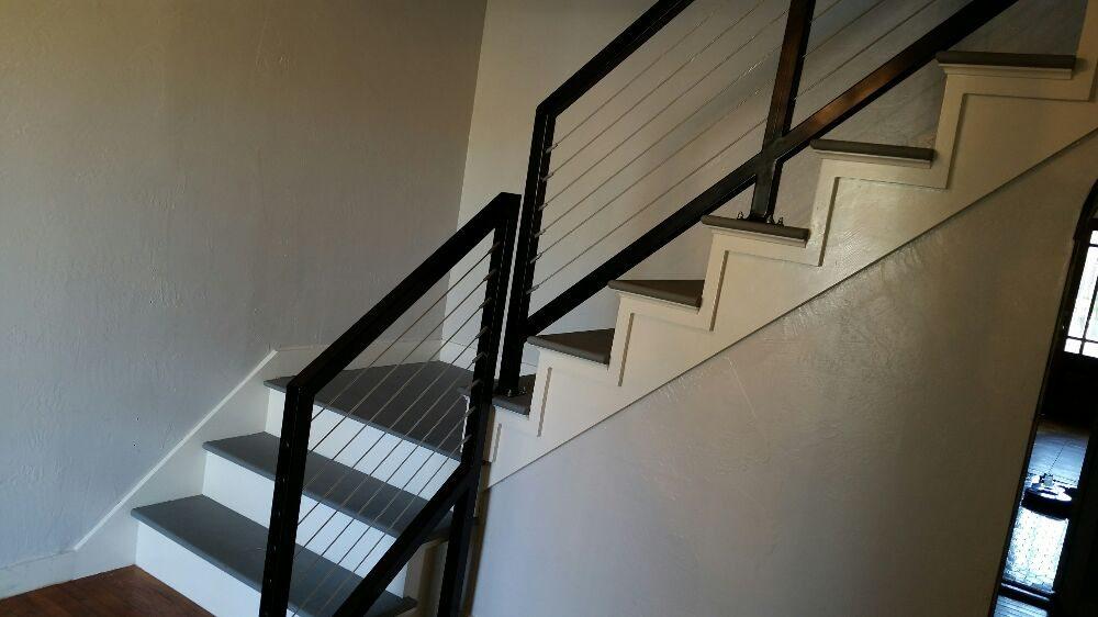 Custom stair railing yelp photo of blueprint construction canyon tx united states custom stair railing malvernweather Images