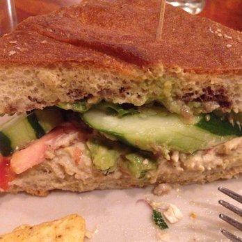 Photo of Haymarket Cafe - Northampton, MA, United States. Humus and avocado sandwich
