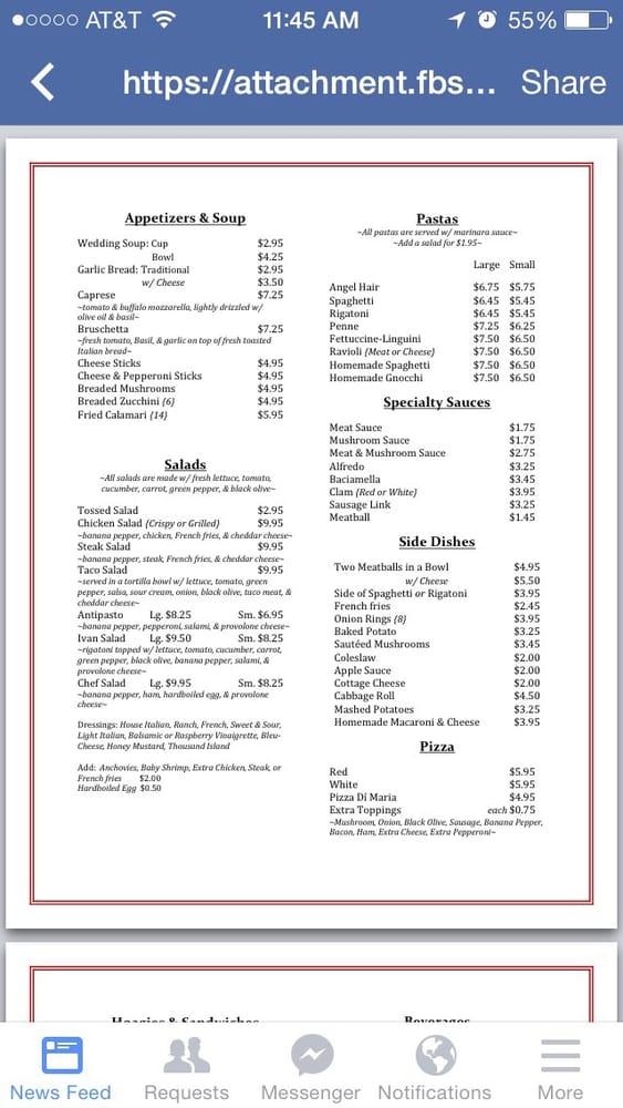 Giovanni's Restaurant: 3013 Pennsylvania Ave, Weirton, WV