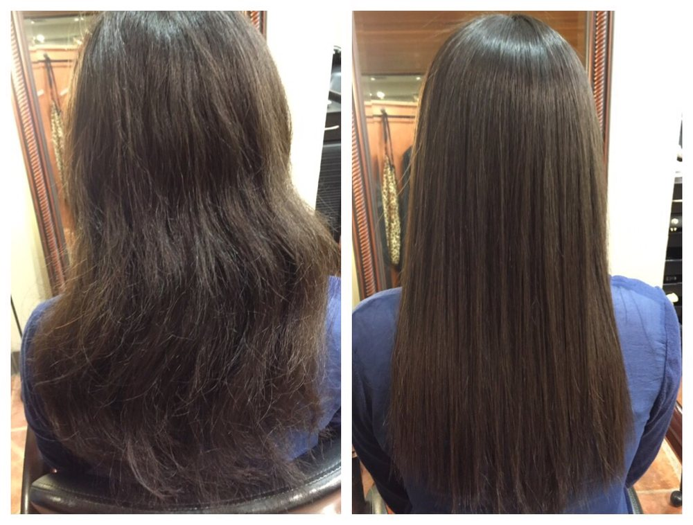 Japanese Hair Straightening Coarse Wire Hair Into Silky