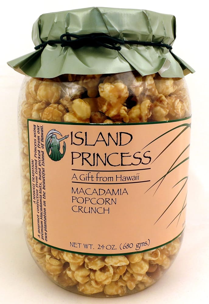 Photo of Island Princess Factory Store - Honolulu, HI, United States. Island Princess Macadamia Popcorn Crunch 24 oz. jar only $8 at the factory store!