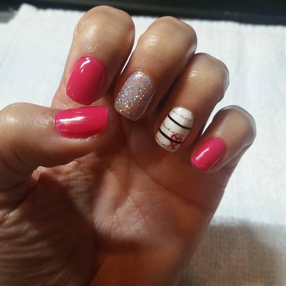 Gel Manicure With Fun Valentine Design...
