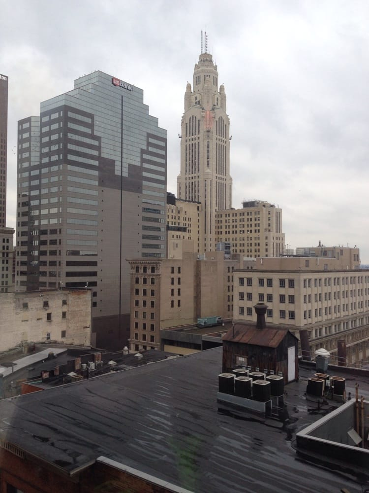 view from the 12th floor of the residence inn in columbus. Black Bedroom Furniture Sets. Home Design Ideas