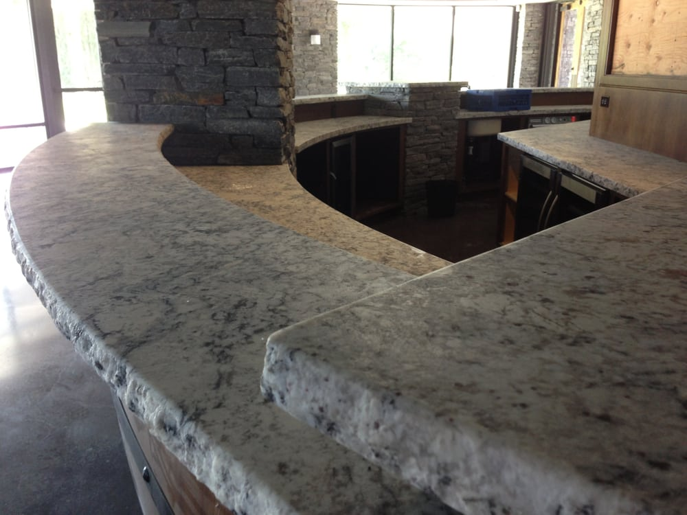 Ice White Granite With A Chisel Edge Detail Granite