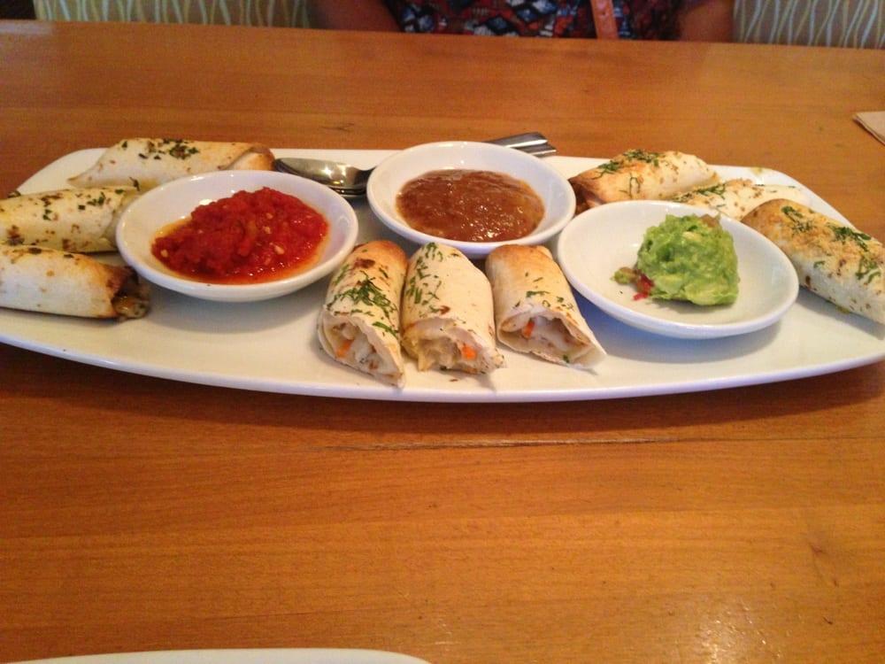 Restaurants In Garden Walk Anaheim Ca: Tortilla Spring Rolls.