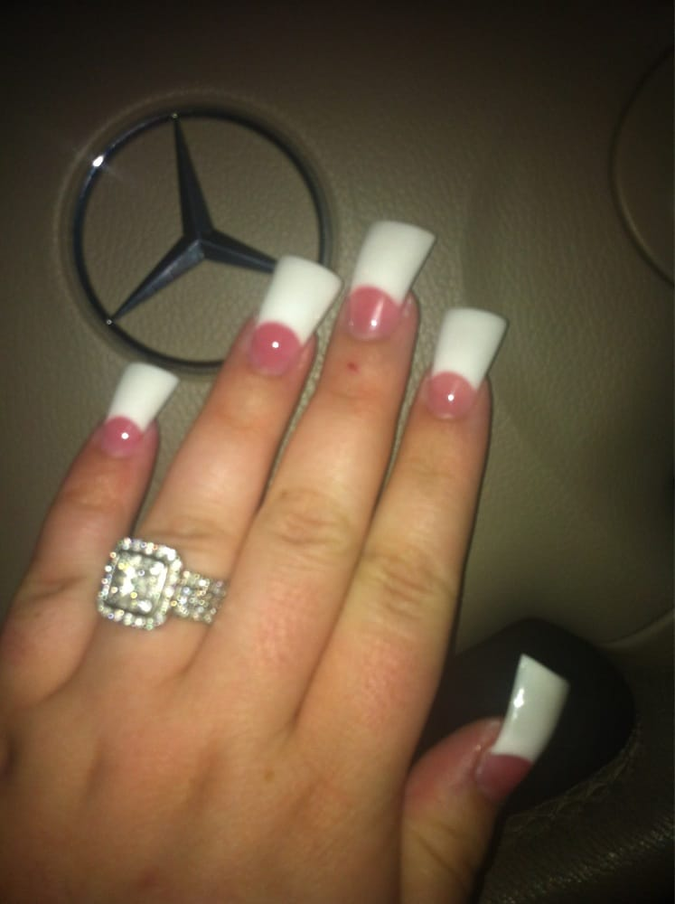 Flare Nails By Sactown Nails And Sactown Nail Spa: Flared Tip, Pink & Whites