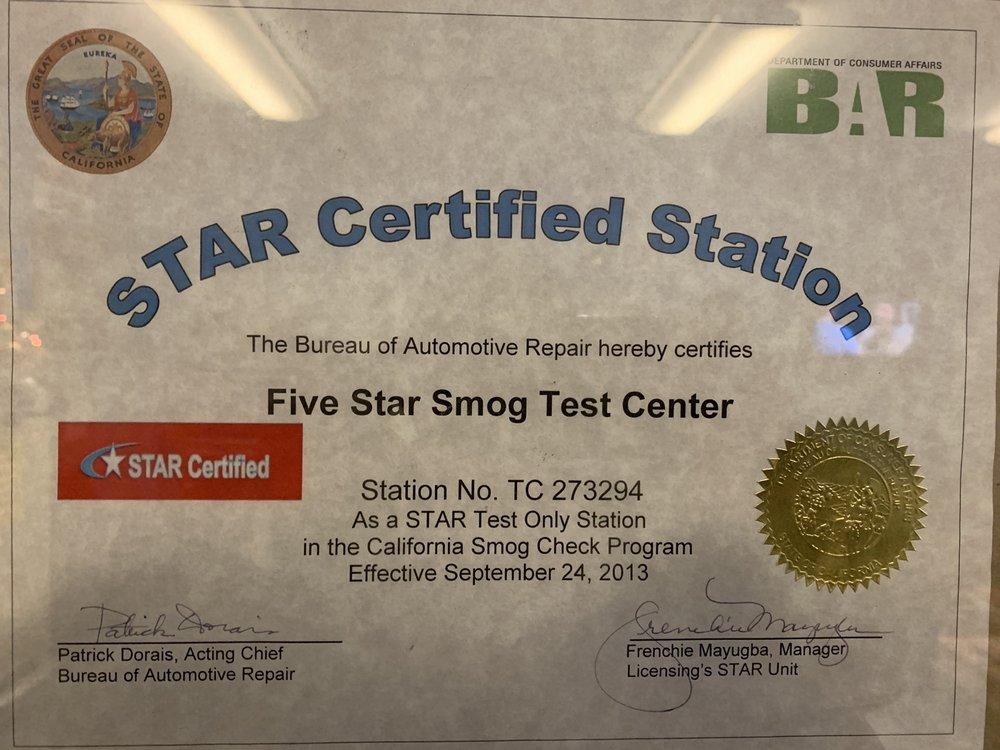 Five Star Smog Test Center: 349 Frazier Mountain Park Rd, Lebec, CA