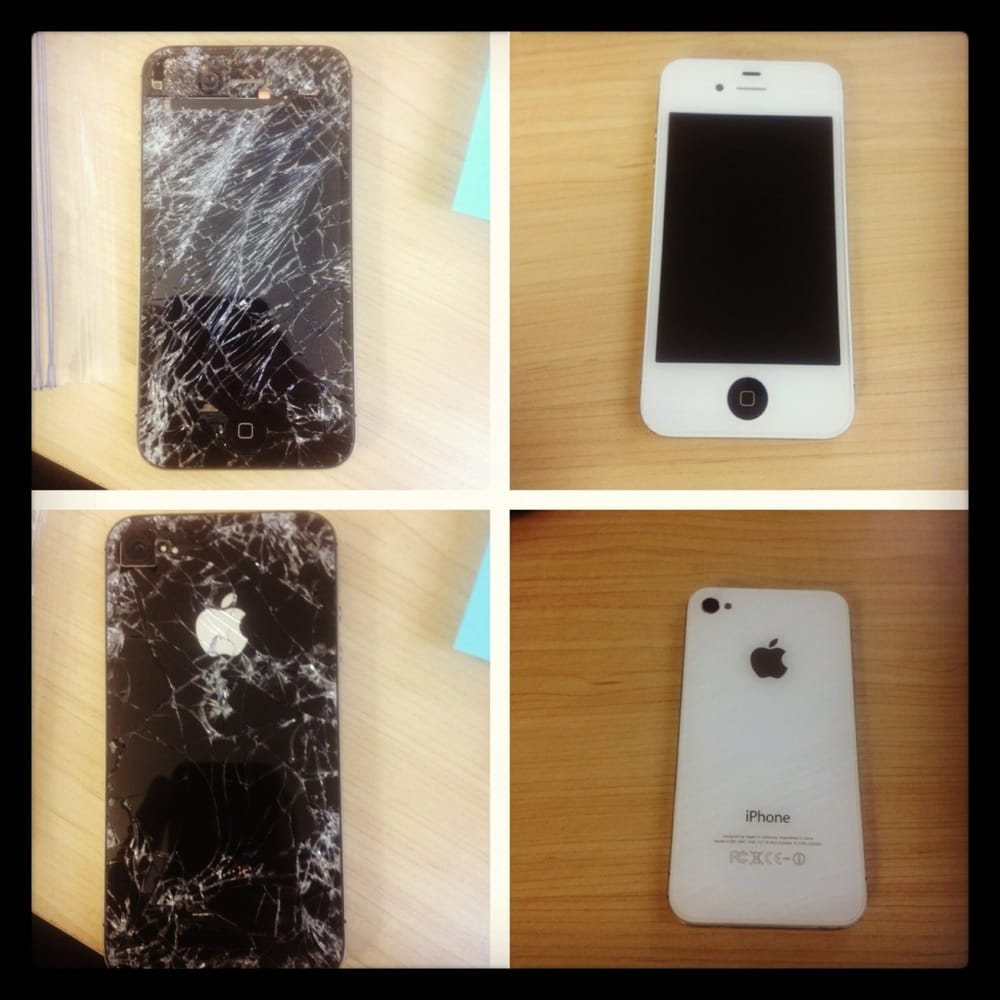 iphone repair fresno iphone 4 ran by a car 30 minutes later we had it 6623