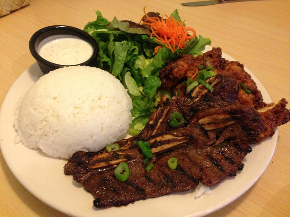 ... States. Steam rice, kalbi ribs, korean chicken with green salad