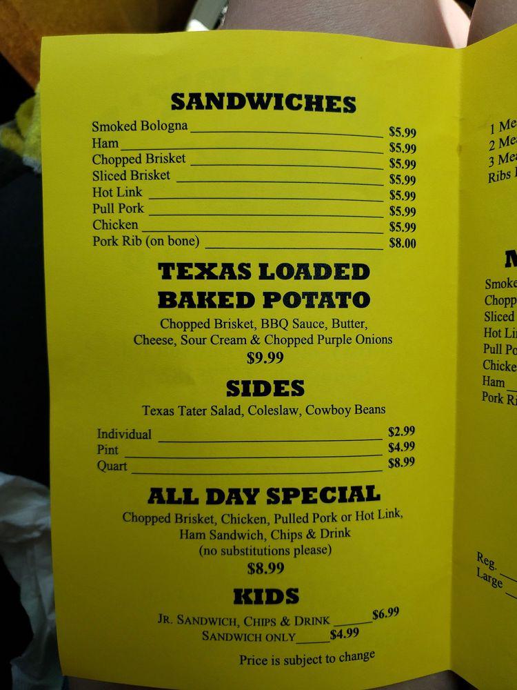 Shorty's Texas Bar-B-Q: 705 Hwy 175 N, Seagoville, TX