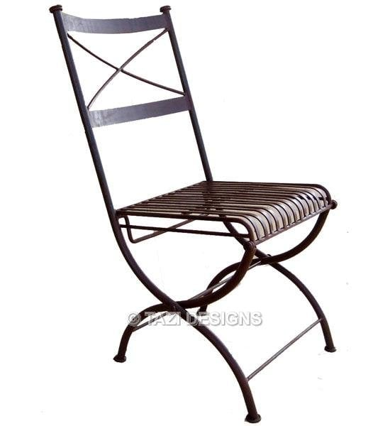 wonderful Folding Wrought Iron Chairs Part - 4: Photo of Tazi Designs - Sausalito, CA, United States. Iron chair. Patio