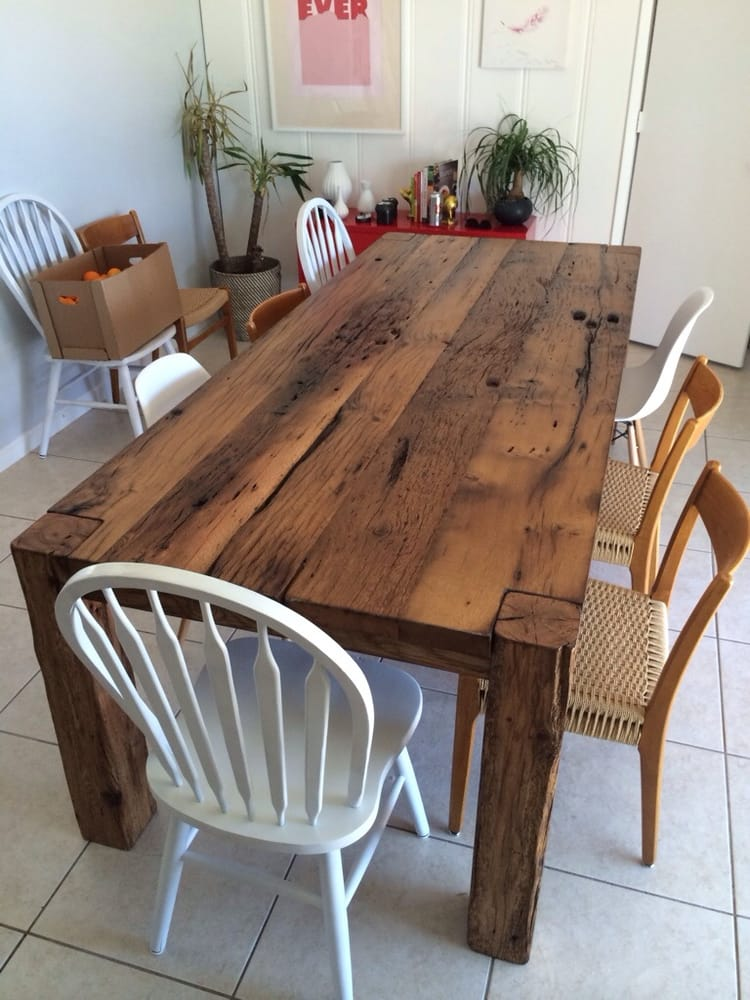 Custom Reclaimed Wood Dining Table built by PBW Yelp : o from www.yelp.com size 750 x 1000 jpeg 91kB