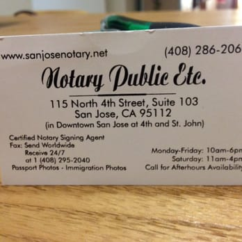 Notary public etc closed 49 reviews notaries 115 n 4th st photo of notary public etc san jose ca united states reheart Gallery
