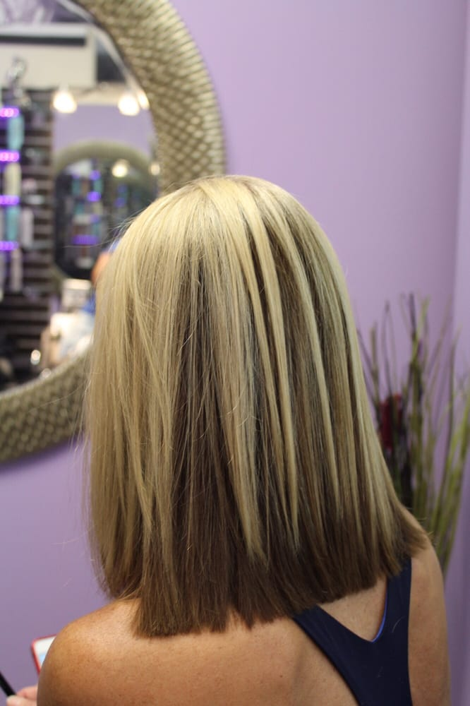 Color Blocking Blonde And Brown Creative Hair Color Trend By