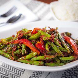 Photo Of Thai Dishes Manhattan Beach Ca United States Green Beans With