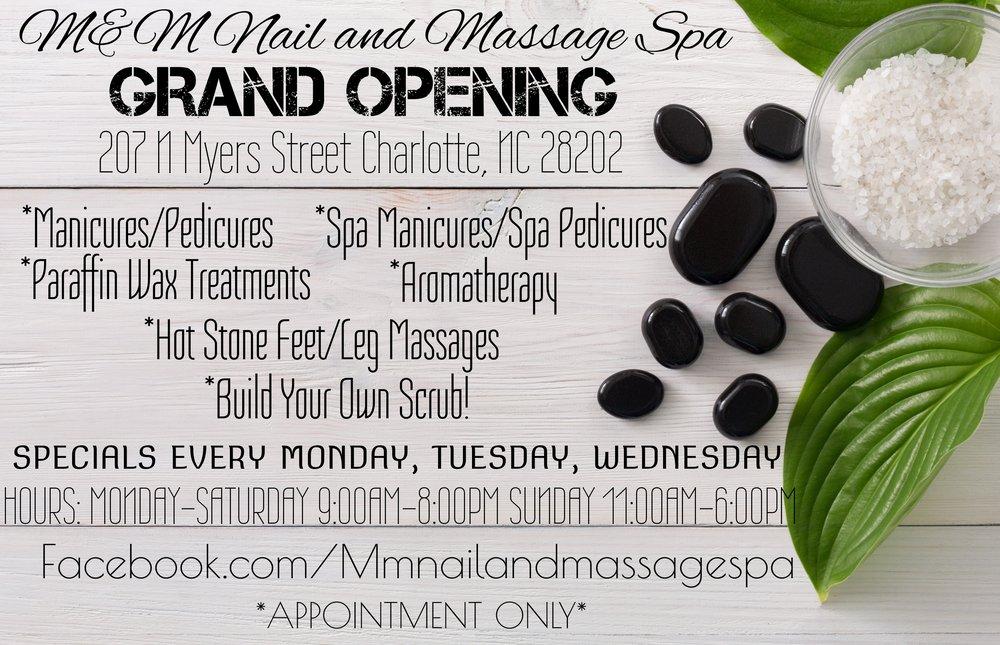 M&M Nail and Massage Spa: 207 N Myers St, Charlotte, NC