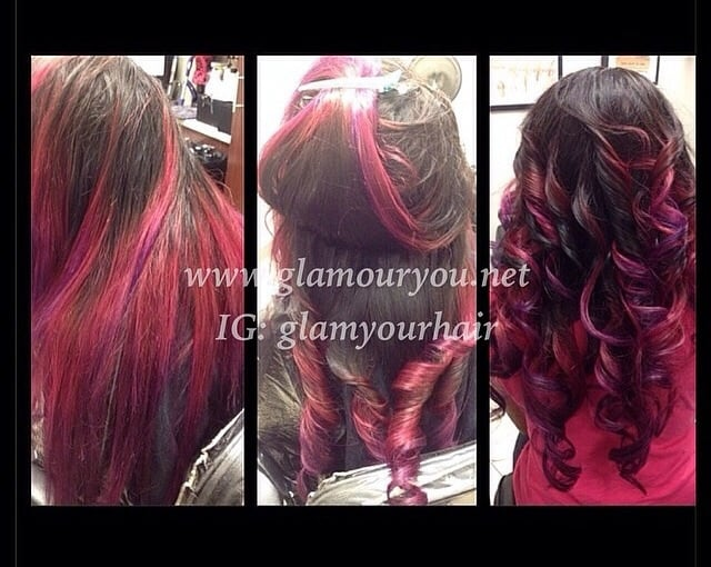 Traditional Weave With Pink Purple Ombre Yelp
