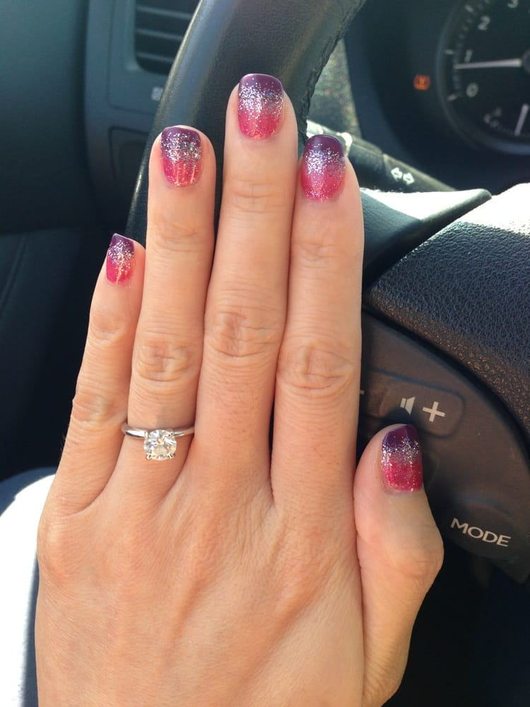 Purple and pink ombré gel nails by Annie! Very cute! - Yelp
