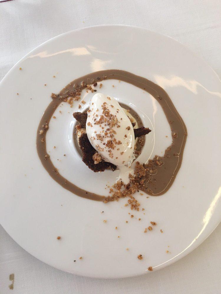Postre crema de vainilla caf an s estrellado y galleta - Restaurante entrevins valencia ...