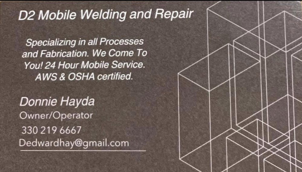 D2 Mobile Welding and Repair: 3555 Niles Rd SE, Warren, OH