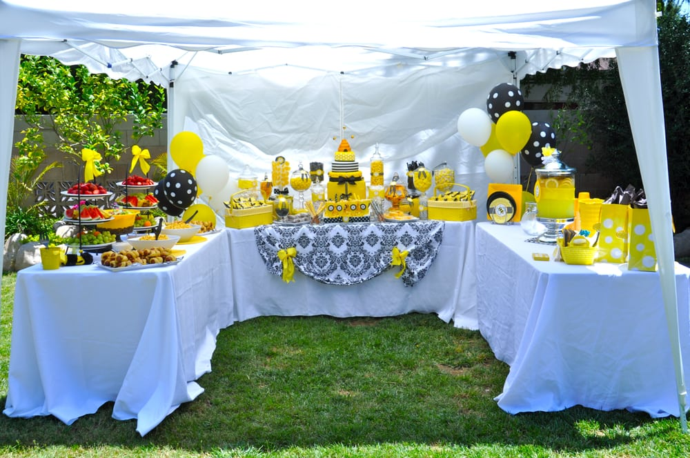 Bumble Bee Baby Shower Food Drink And Dessert Tent Yelp