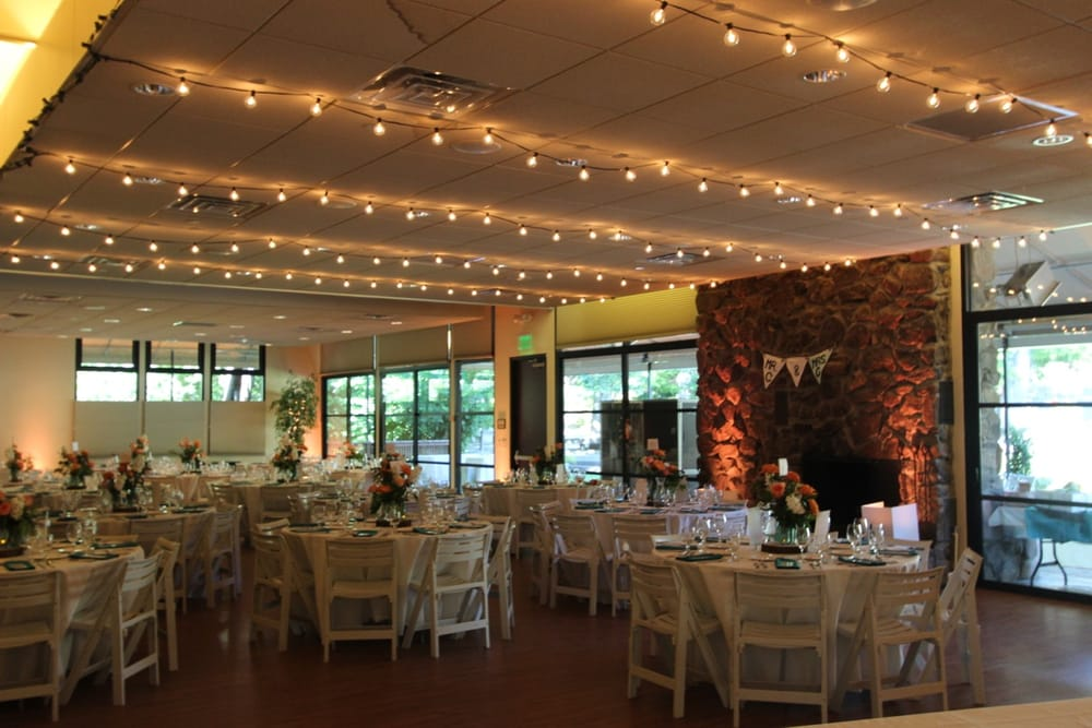 String lights, uplights, and DJ/MC services at Marin Art and Garden ...