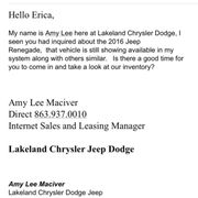 Again Photo Of Lakeland Chrysler Dodge Jeep Ram   Lakeland, FL, United  States. They