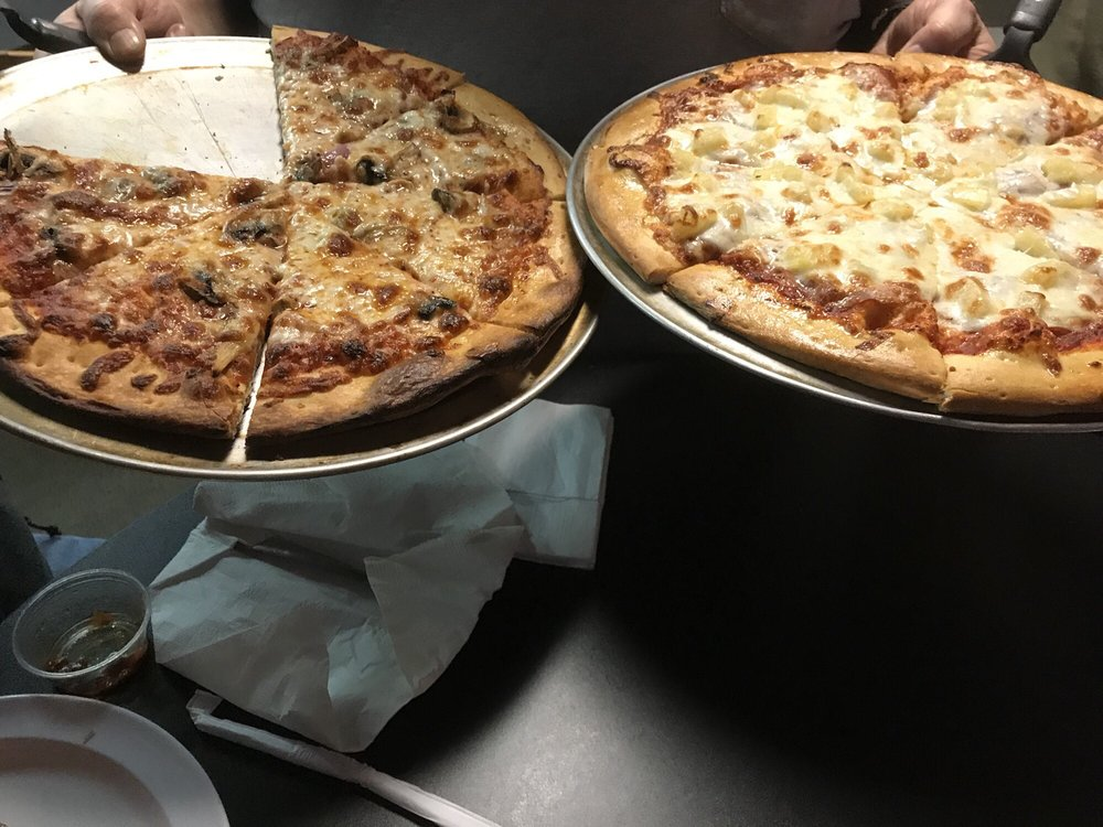 Food from Coop's Pizzeria