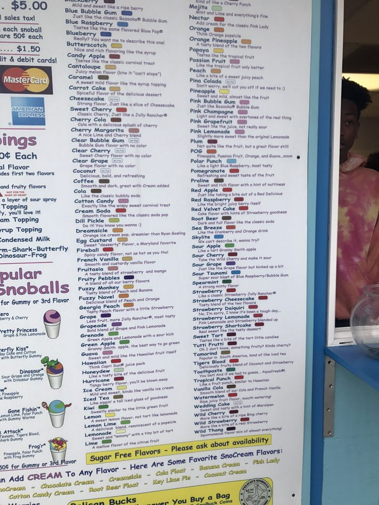 Pelican's SnoBalls: 2768 Decker Blvd, Columbia, SC