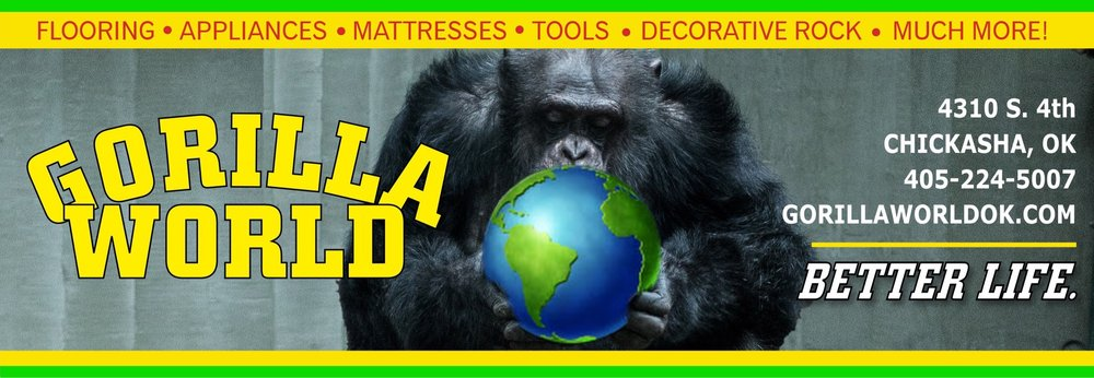 Gorilla World: 4310 S 4th St, Chickasha, OK