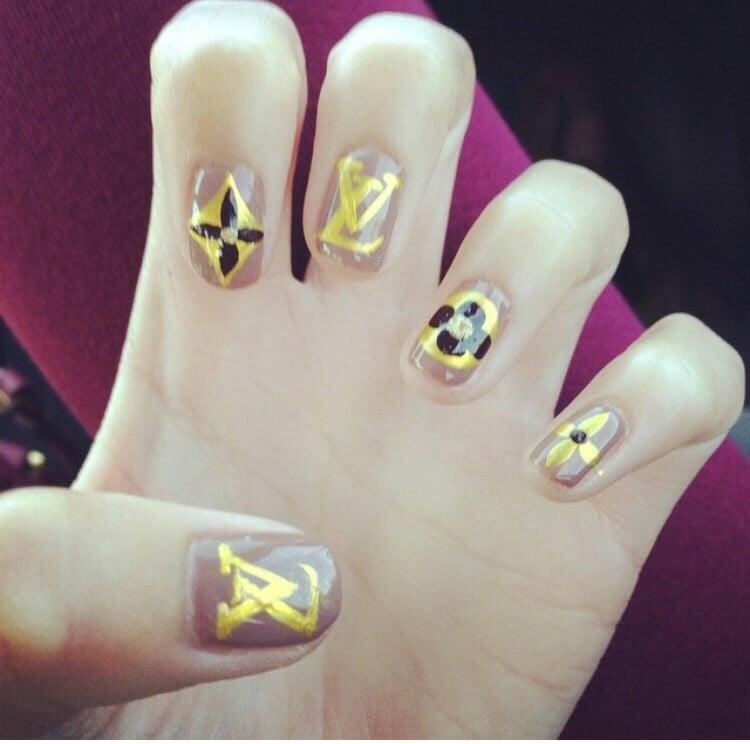 LV nail design. $45 full set - Yelp