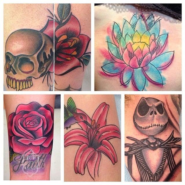 Collage of work by tommy haley yelp for Top shelf tattoos