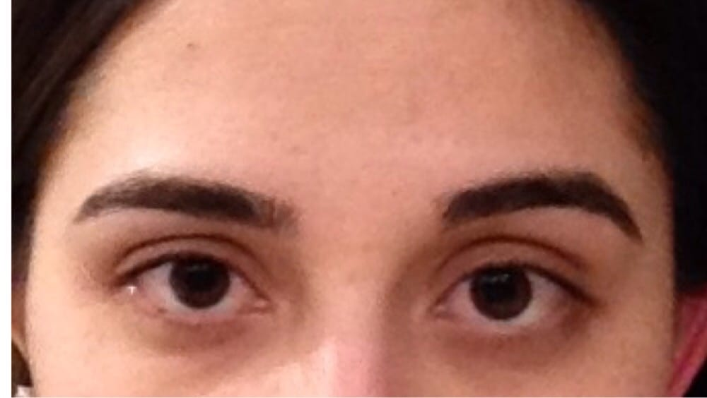 My lopsided eyebrows. I looked like a joke. - Yelp