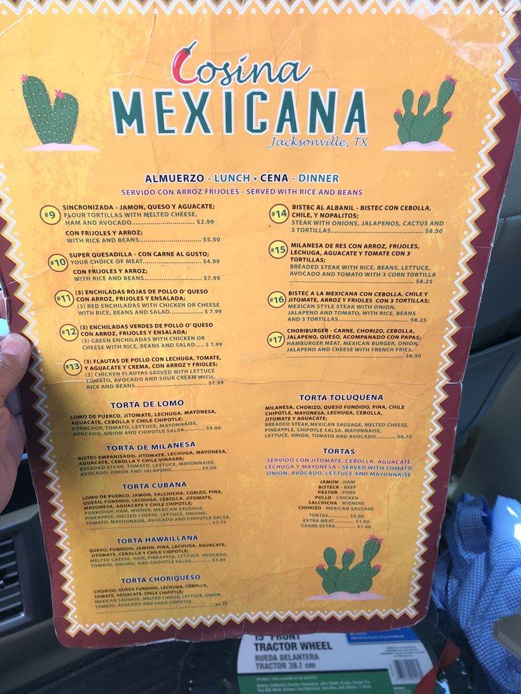 Cosina Mexicana: 1744 S Jackson St, Jacksonville, TX