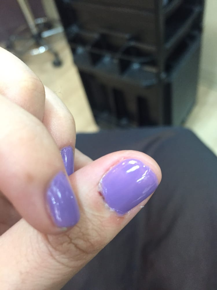They superglued the thumb cuticle where they made me bleed. - Yelp