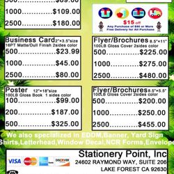 Photo Of Stationery Point Lake Forest Ca United States Price List