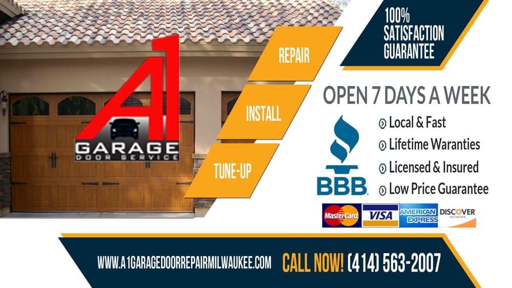 A1 Garage Door Repair Milwaukee 32 Reviews Garage Door Services