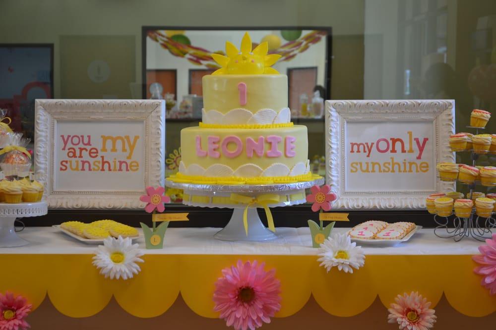 You are my Sunshine theme birthday party created by La Ti Da