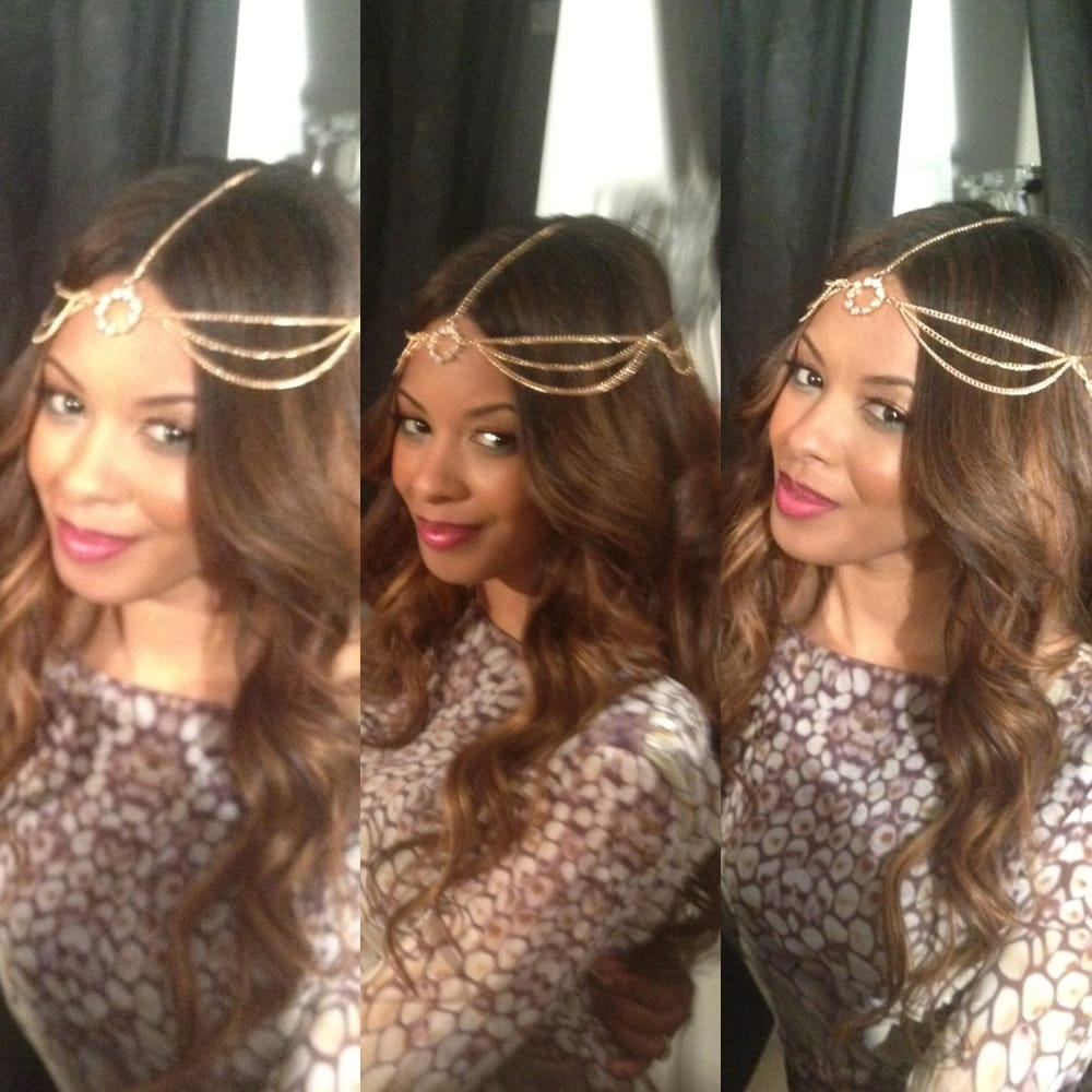 vanessa simmons with wand curls and full glam - yelp